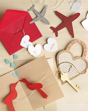 Our garland cards- aside from basic tools, all you need is a bit of ribbon or cord, our templates, and your favorite scrapbooking papers.