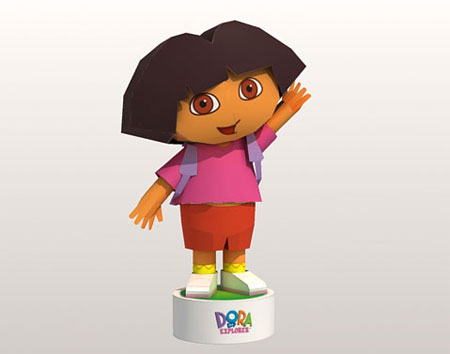 Dora the Explorer Papercraft