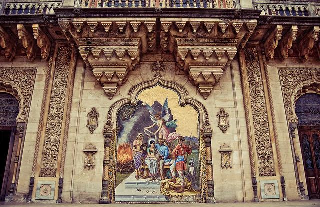 Lukshmi Villas Palace - Mosaic Painting