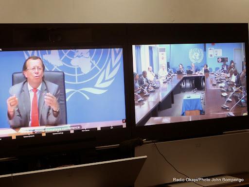 Webcast animé par Le représentant spécial du secrétaire général des Nations unies en RDC et chef de la Monusco, Martin Kobler le 04/12/2014 à Kinshasa. Radio Okap i/Ph. John Bompengo