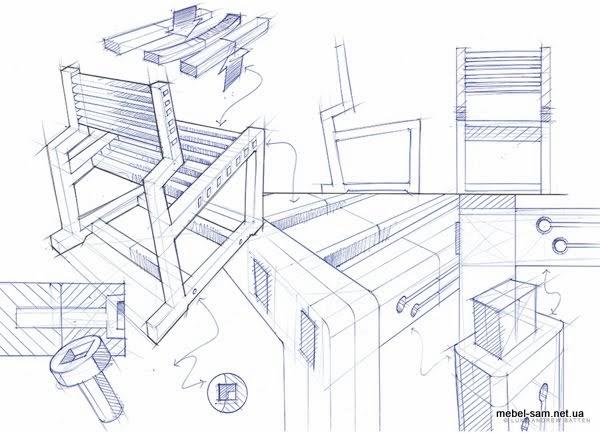 идеи, наброски, чертежи фанерного стула