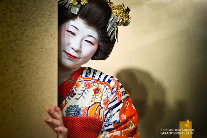 A Real Geisha at Sakura Jaya in Tokyo