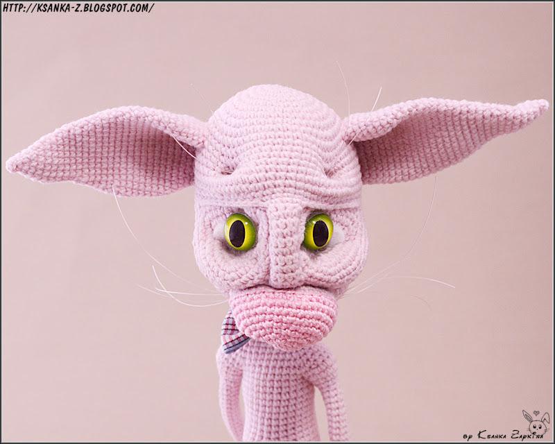 Амигуруми, вязаные игрушки, вязаный сфинкс, вязаный кот