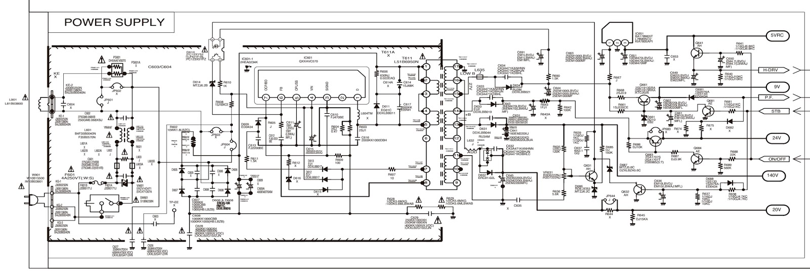 Tv Power Schematic | Wiring Library