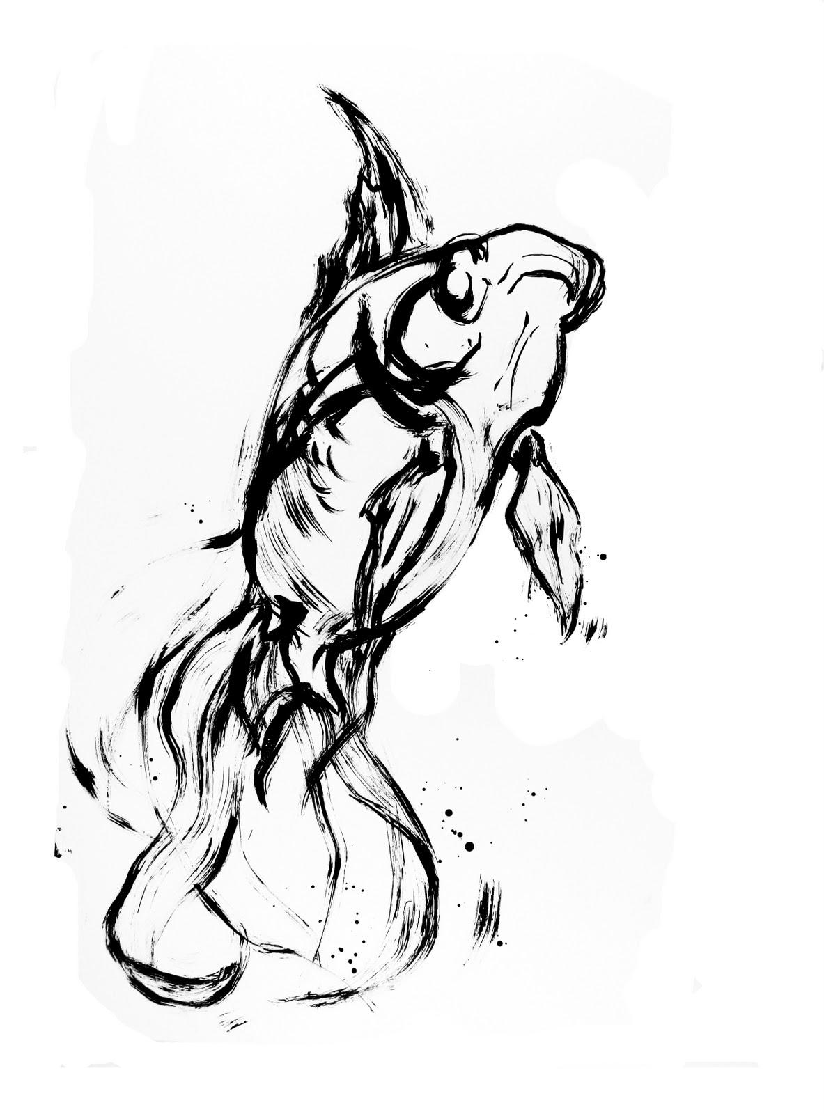 amy holliday illustration fish studies exploring movement