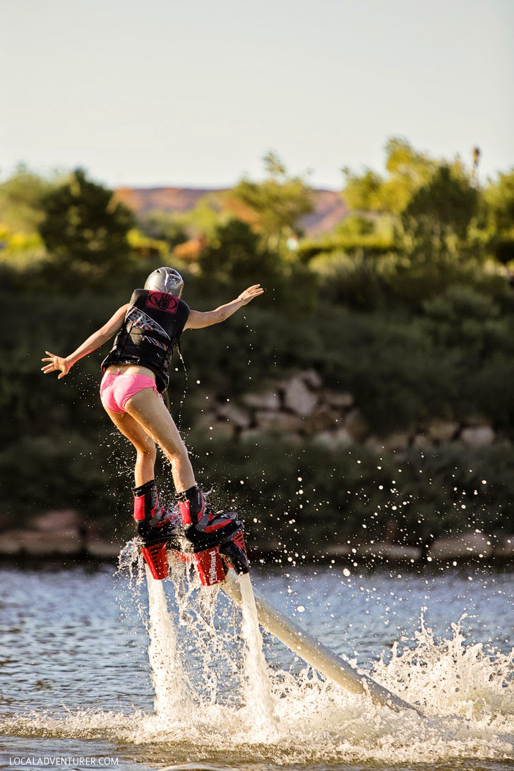 Flyboard Las Vegas at Lake Las Vegas To Do List.