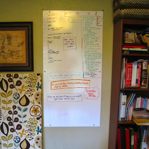 homeschool whiteboard