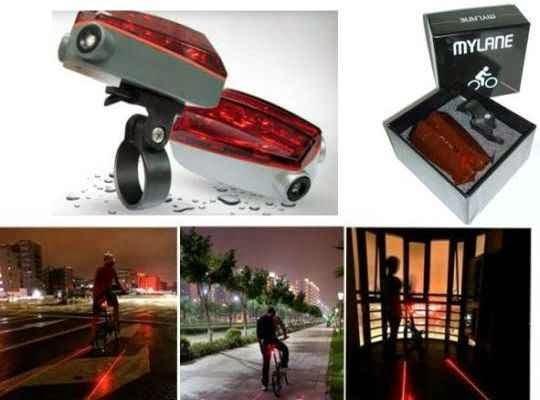 bonito carril virtual para bicis