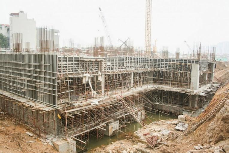 tiến độ thi công dự án chung cư 136 hồ tùng mậu