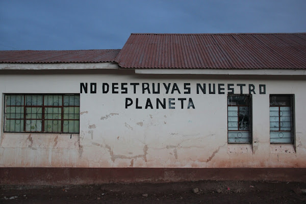 Artwork on a school in Bolivia