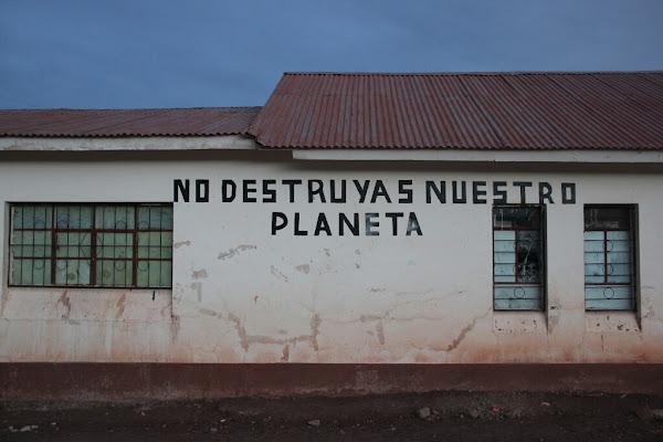 Artwork on a school in Bolivia