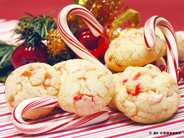 White Chocolate Candy Cane Drops