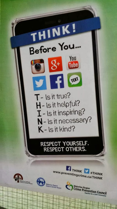Think! Before you post (Alex Kinsella)