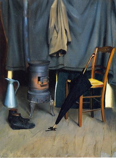 William McGregor Paxton - Interior of the Paris Studio