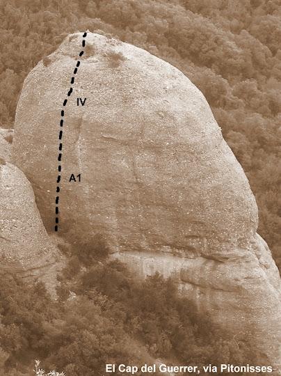 El Cap del Guerrer, via Pitonisses