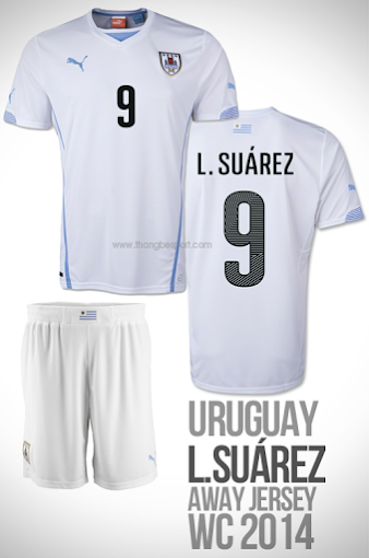 áo bóng đá uruguay sân khách