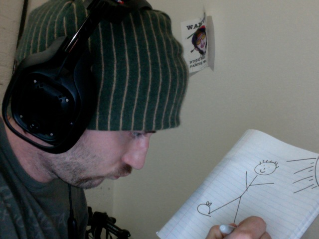 Green Cashmere Beanie: Hugues Drawing