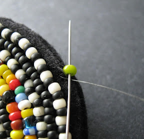 How to Finish Bead Embroidery with Square Stitch
