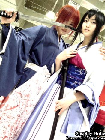rurouni kenshin cosplay - battousai himura kenshin and yukishiro tomoe