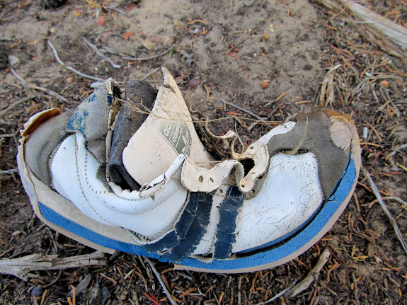 This was morbid--a pair of shoes was among the wreckage