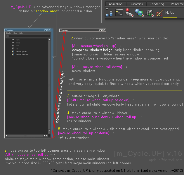 CGTalk | optimize a little bit maya UI and windows operating
