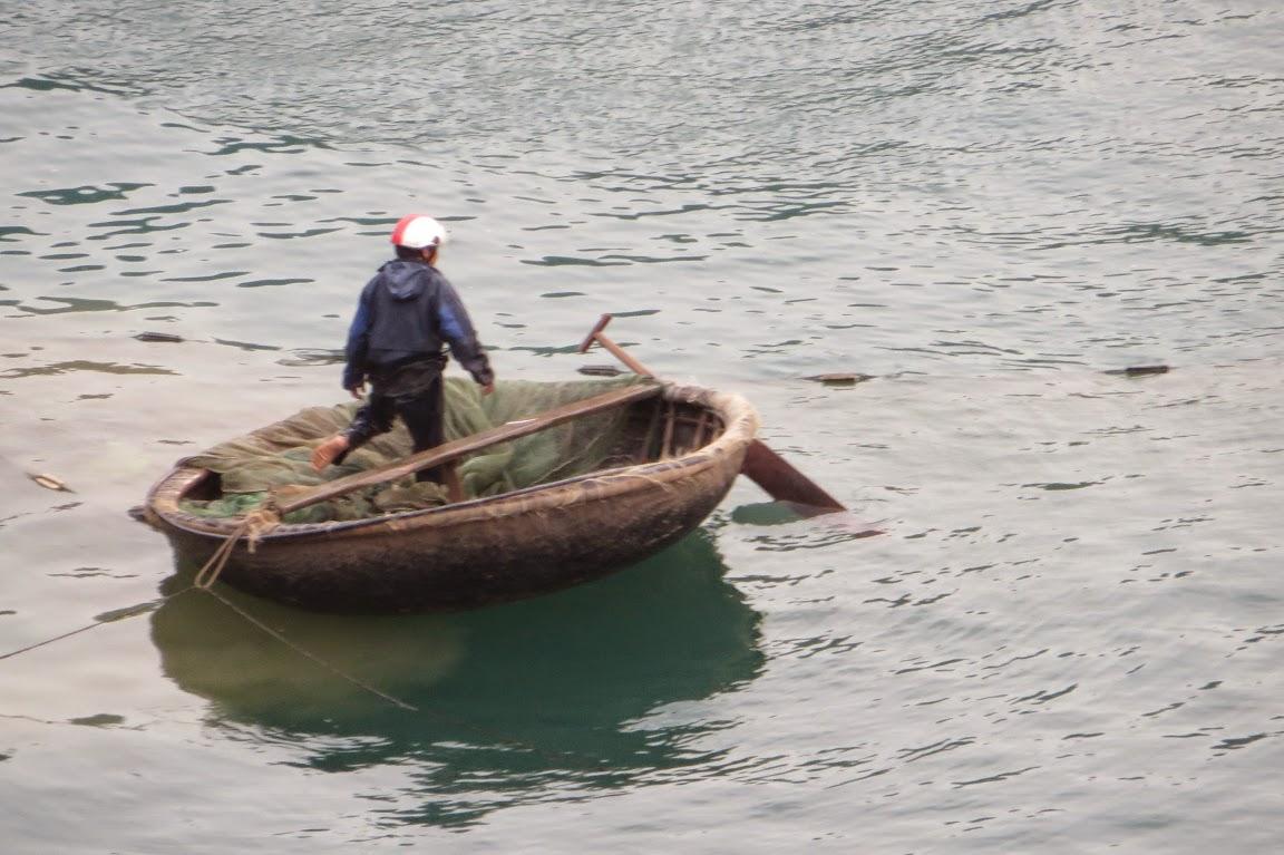 Woven baskets boats
