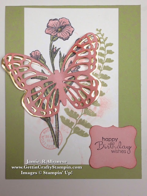 Getting crafty with jamie butterfly birthday wishes hand stamped card punch the sentiment out with the curly label punch and using the sponge dauber to soften the edges to this hand stamped greeting m4hsunfo