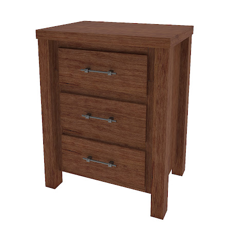 Ashton Nightstand with Drawers, Cocoa Cherry