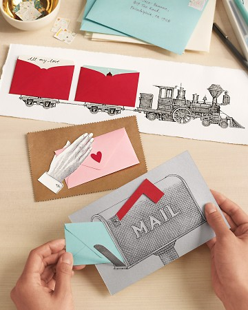 Tuck whatever you'd like into these tiny envelopes- a love note, gift card, movie tickets, sweet photo, business card from your favorite restaurant and an invite to date night, or even cash.