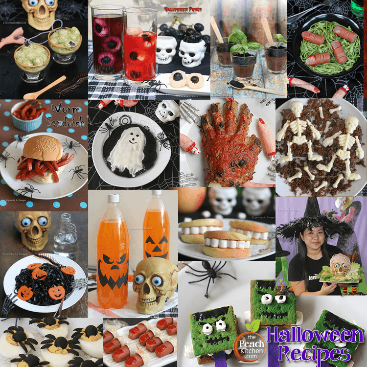 Spooky Halloween Recipes from The Peach Kitchen (Party Food Ideas)