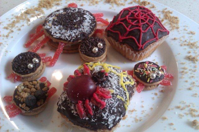 Arañas dulces para hallowen