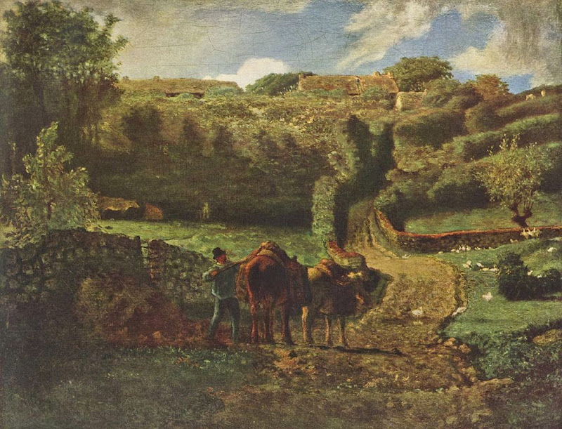 Jean-François Millet - Manor farm Cousin in Greville, 1855