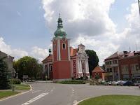 Červenokostelecké náměstí s kostelem sv. Jakuba Většího
