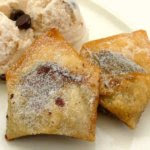 Fried Chocolate Marshmallow Wontons