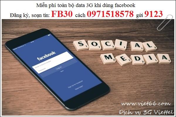 Chỉ với 1 tin nhắn: FB30 cách 0971518578 gửi 9123 là bạn đã có thể thả ga  truy cập facebook trong 30 ngày tới rồi. Ngoài ra, Viettel cũng cung cấp  các gói ...