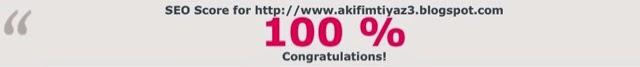 SEO score for http://www.akifimtiyaz3.blogspot.com