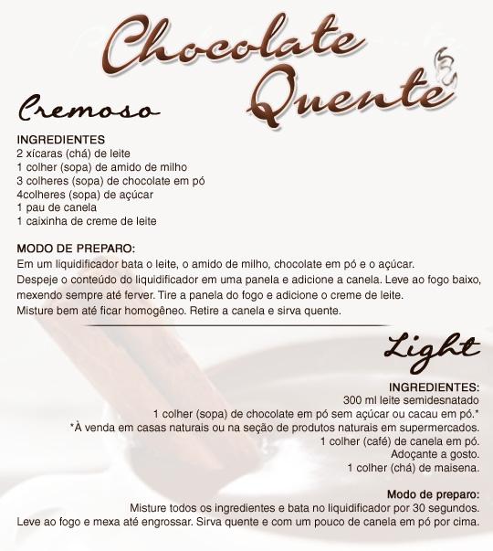 Receita de Chocolate Quente!