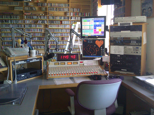 KUSP on-air studio