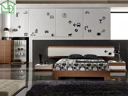 Đầu giường và giường được thiết kế rời nhau