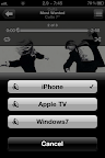 Aerdrom AirPlay icon visible on the iPhone music app