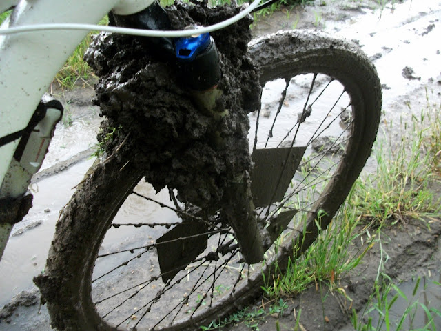 muddy bike tire at Dirty Kanza