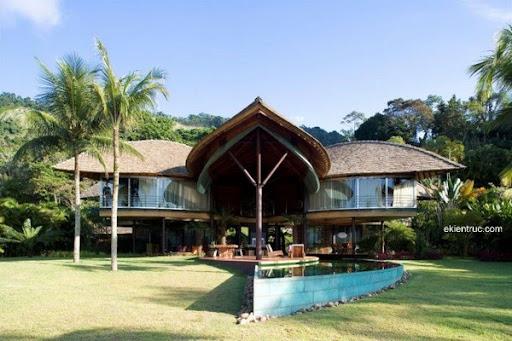 Leaf House 04 750x500 Kiến trúc nhà lá thú vị tại Brazil