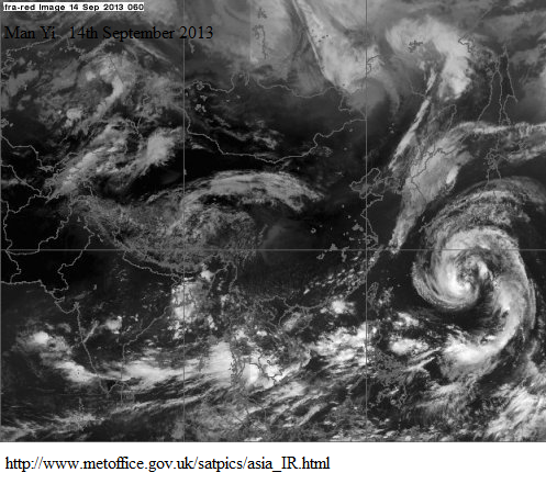 man yi typhoon 14th sept 2013