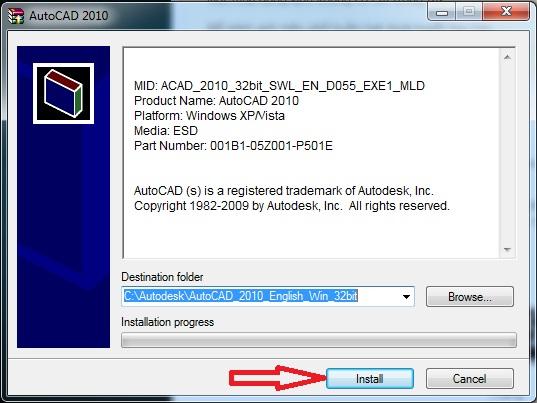 autocad 2010 product key