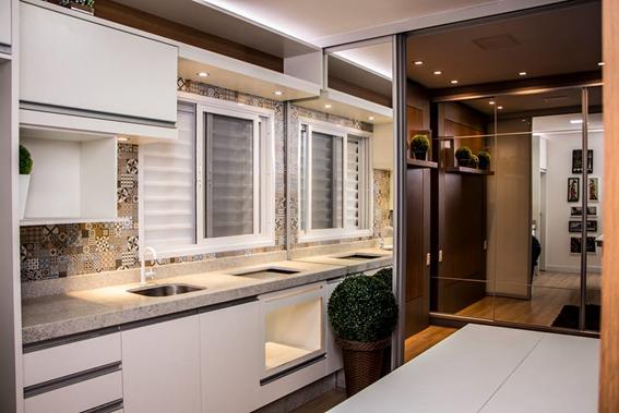 Cozinha em construção modular industrializada