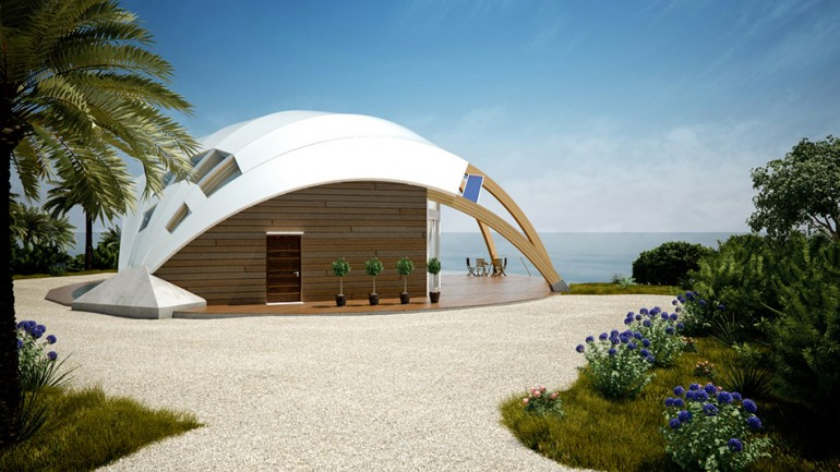 About civil engineering 39 the pearl 39 dome house passive for Dome home designs