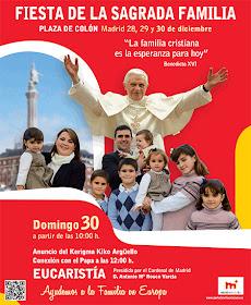 Fiesta de las Familias, domingo 30 de diciembre en la Plaza de Colón