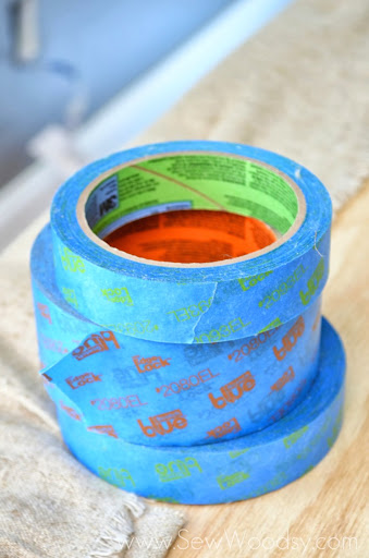 Paint Less--Tape More with @ScotchBlue from SewWoodsy.com
