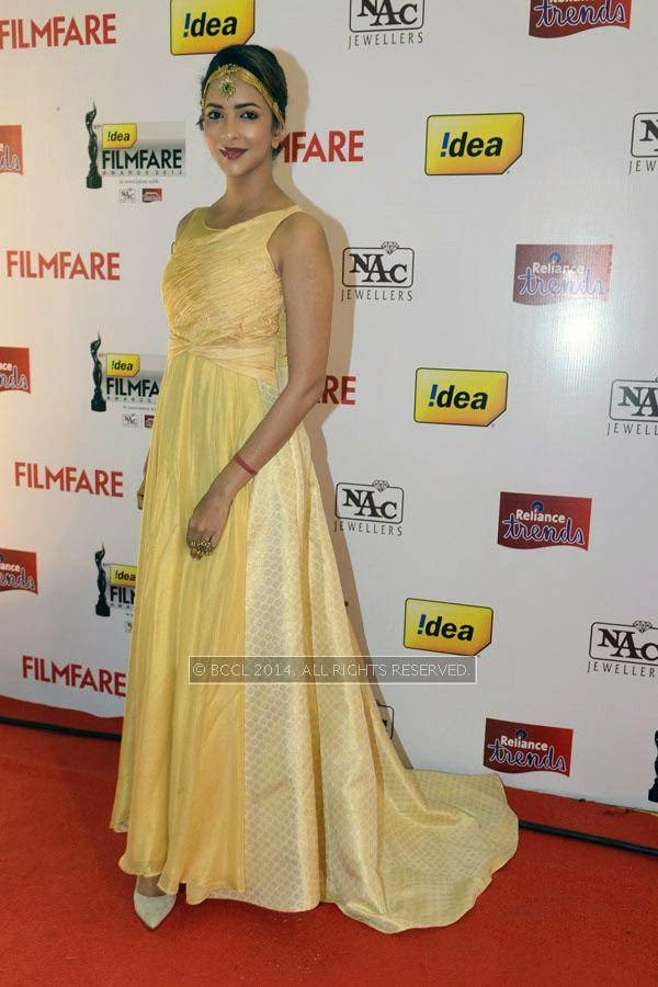 Lakshmi Manchu during the 61st Idea Filmfare Awards South, held at Jawaharlal Nehru Stadium in Chennai, on July 12, 2014.