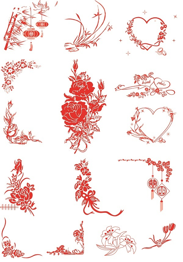 Doawnload 160 file đồ họa vecter thiệp dành cho đám cưới